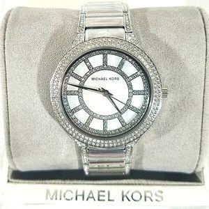 🔥NWT Michael Kors Women's Silver-Tone Kerry Watch